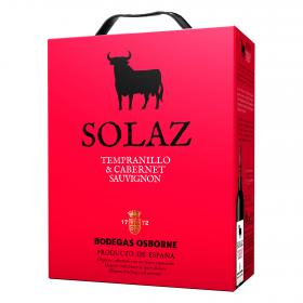 Solaz vino tierra tinto bag in box de 3l.