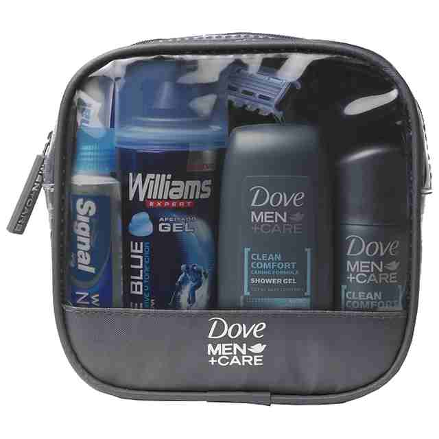 Dove men gel baño clean comfort desodorante clean confort gel afeitar williams ice blue neceser regalo de 15cl. en spray