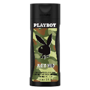 Playboy gel ducha champu play it wild hombre de 40cl.