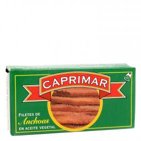 Caprimar filetes de anchoas en aceite vegetal de 23g.