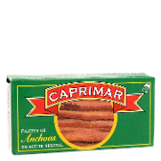 Filetes de anchoas en aceite vegetal caprimar de 23g.