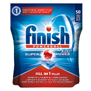 Finish calgonit detergente lavavajillas power ball todo en 1 limon accion efervescente 20 gratis 50 en pastilla