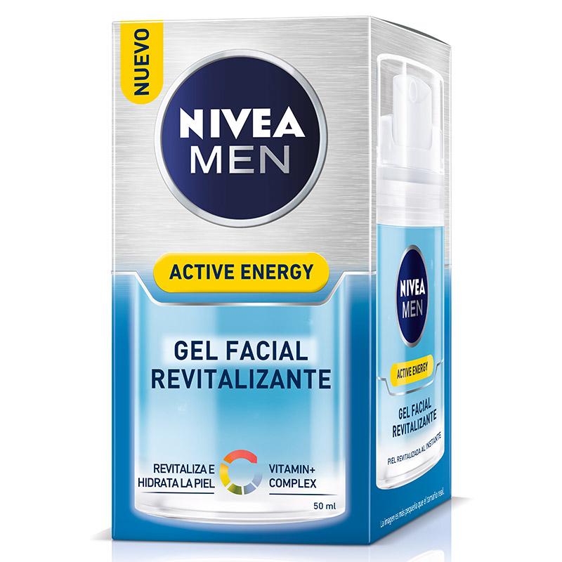 Nivea For Men hombre skin energy q 10 gel hidratante facial instant effect revitaliza refresca piel tubo de 50ml.