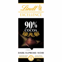 Lindt chocolate negro 90% cacao excellence de 100g.