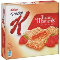 Kelloggs barrita biscuits moments con fresa de 125g. en caja