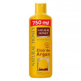 Natural Honey gel baño elixir argan de 75cl. en bote