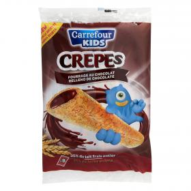Carrefour Kids crepes rellenos chocolate de 256g.