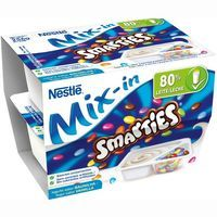 Smarties yogur mix in nestle de 128g. por 2 unidades