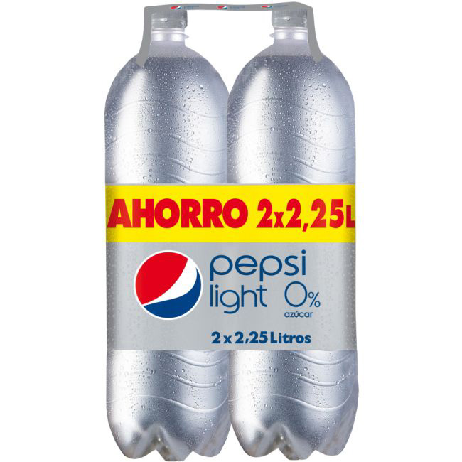 Pepsi refresco cola light pet de 2,25l. por 2 unidades