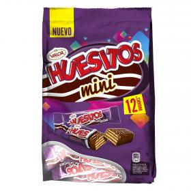 Huesitos mini barritas barquillo chocolate con leche por 12 unidades