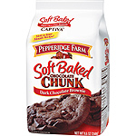 Pepperidge Farm chocolate chunk galletas chocolate negro con brownie de 220g. en paquete