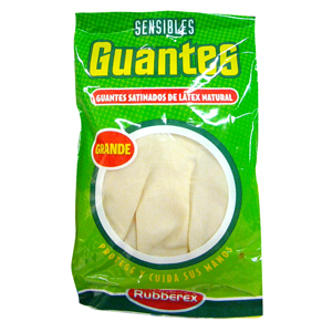 Rubberex guante sensible color carne talla grande