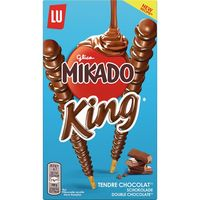 Mikado king chocolate con leche lu de 51g.
