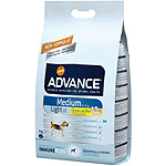 Advance medium light alimento alta gama perros raza mediana con sobrepeso con pollo arroz de 3kg. en bolsa