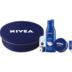 Nivea aniversario con body milk nutritivo crema creme desosodrante invisible black & white roll on envase liposan de 50ml. en bote