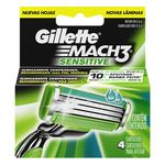 Gillette cargador mach3 sensitive 4u