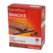 Carrefour galleta multivitaminada con chocolate de 210g.