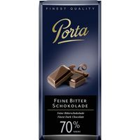 Chocolate negro 70% porta tableta de 100g.