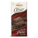 Valor chocolate puro sin azucar tableta de 125g.
