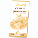 Lindt creation chocolate blanco relleno mousse chocolate tableta de 140g.