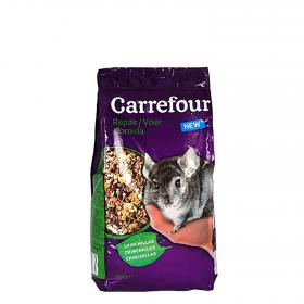 Carrefour comida chinchillas de 800g.