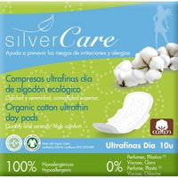 Natural Cotton compresa silvercare ultra dã­a paquete por 10 unidades