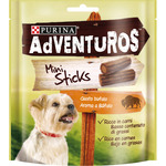 Búfalo purina adventuros mini sticks con sabor envase de 90g.