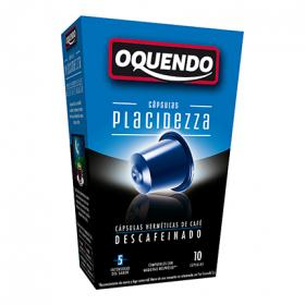 Oquendo placidezza cafe tueste natural descafeinado compatibles con maquinas nespresso estuche 85 g 10