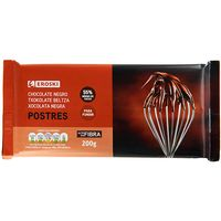 Eroski Basic chocolate negro postre tableta de 200g.